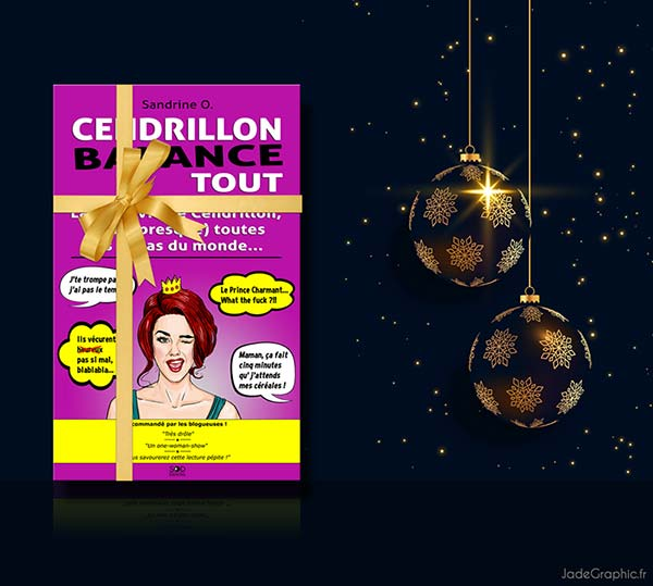 Graphique web de Noël pour Cendrillon Balance Tout